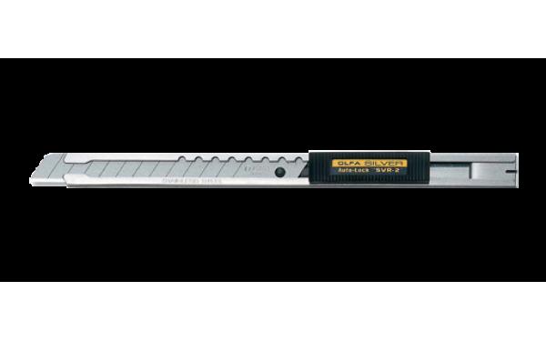 Малярный нож OLFA SVR-2 с выдвижным лезвием и корпусом из нержавеющей стали с автофиксатором