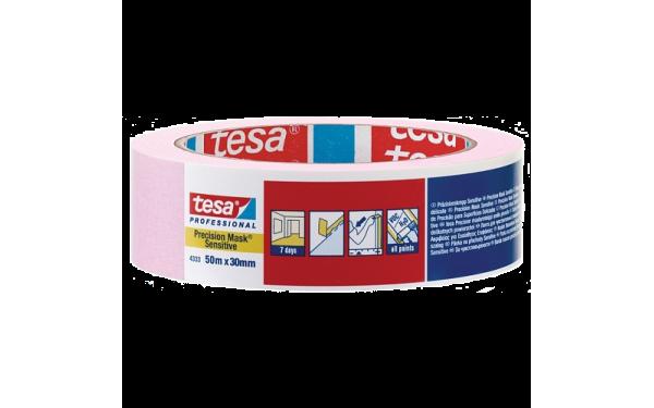 Малярная лента розовая TESA для деликатных поверхностей 30 мм